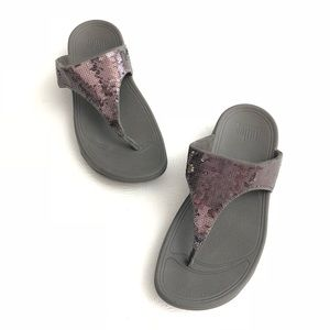 Fitflop Sequin Electra Classic Thong Sandals Comfo